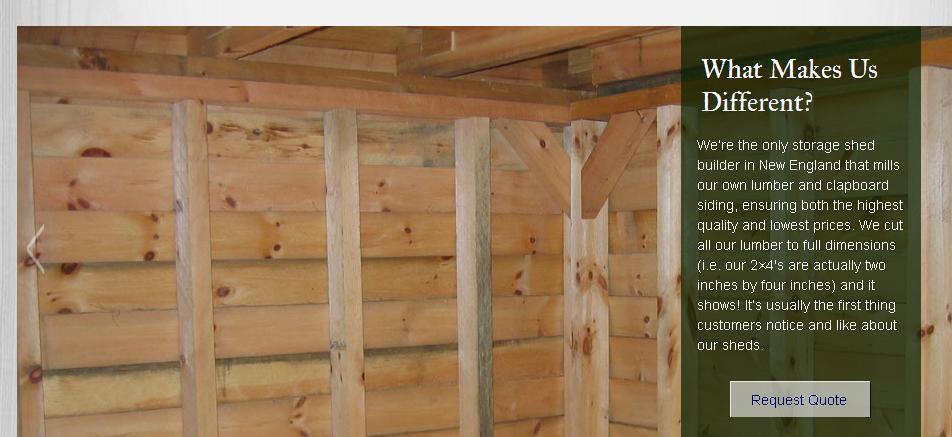 ma custom made sheds