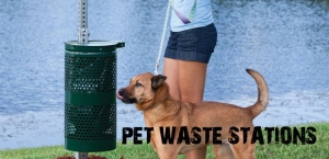 Installation Of Pet Waste Station To Keep Area Clean