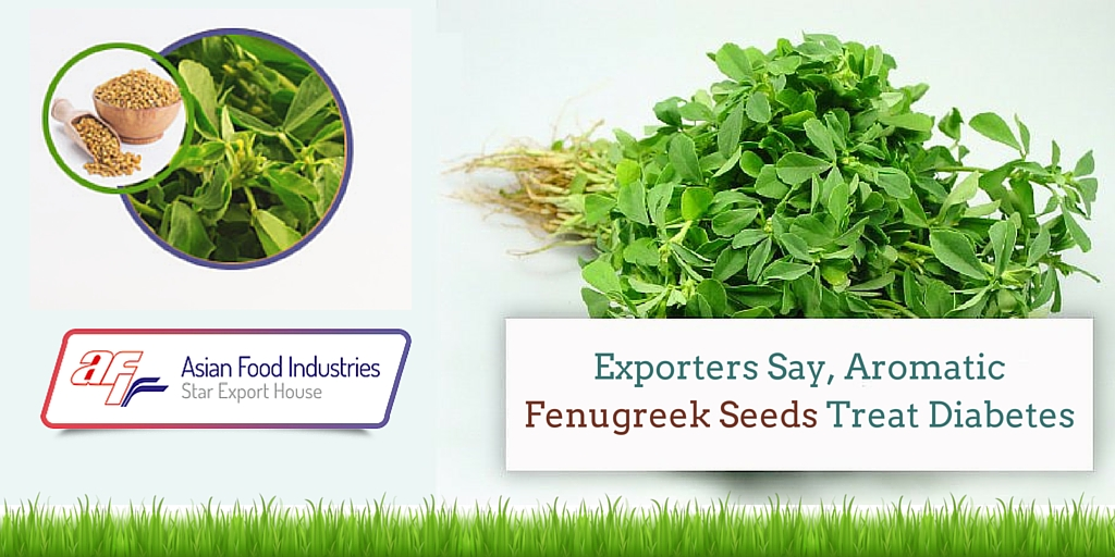 Aromatic Fenugreek Seeds Treat Diabetes, Say Exporters