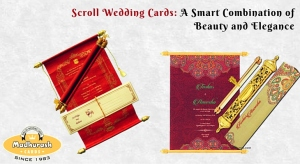 Scroll Wedding Cards: A Smart Combination Of Beauty and Elegance