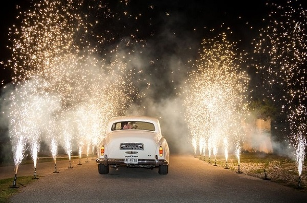 Using Sparklers At A Wedding