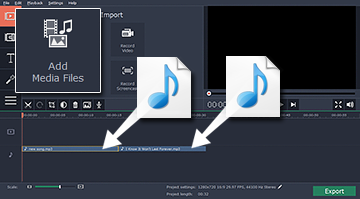 How To Combine Separate Audio Clips Into A Single File With Movavi Video Editor