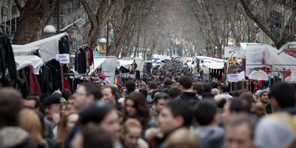 Enjoying A Great Sunday In Madrid