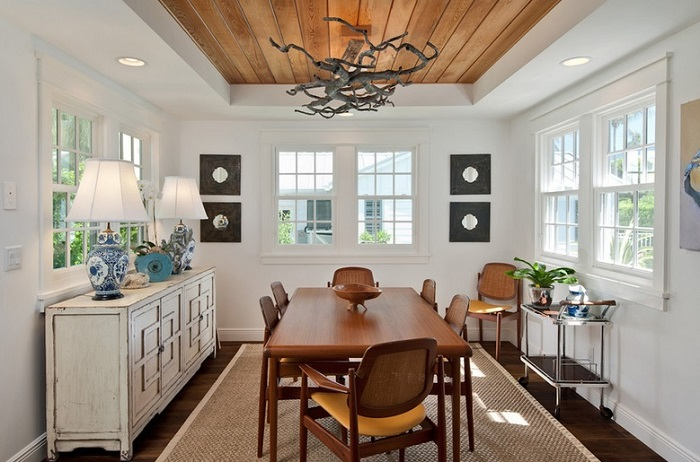 Modern Dining Room Design With Luxury Ceilings