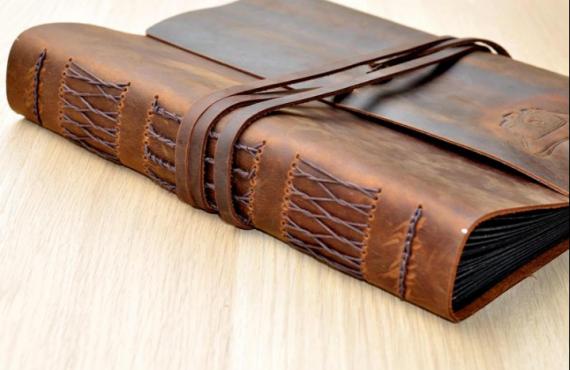 leather bound photo album